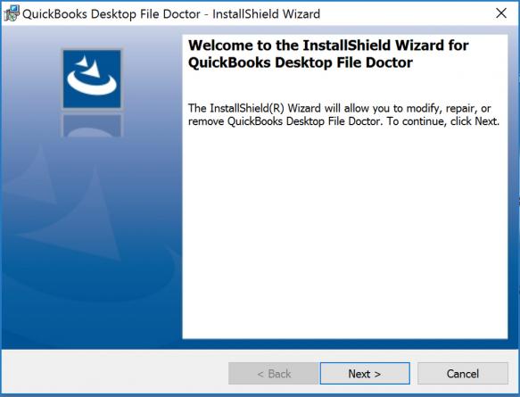 Installation window: Quickbooks doctor file repair