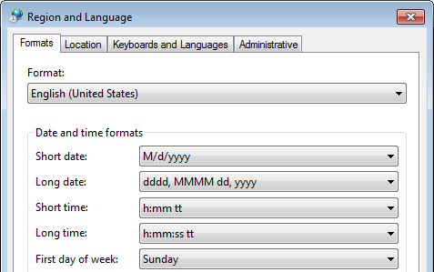 Regional and Language Configuration For Sage 50 Not Responding Error